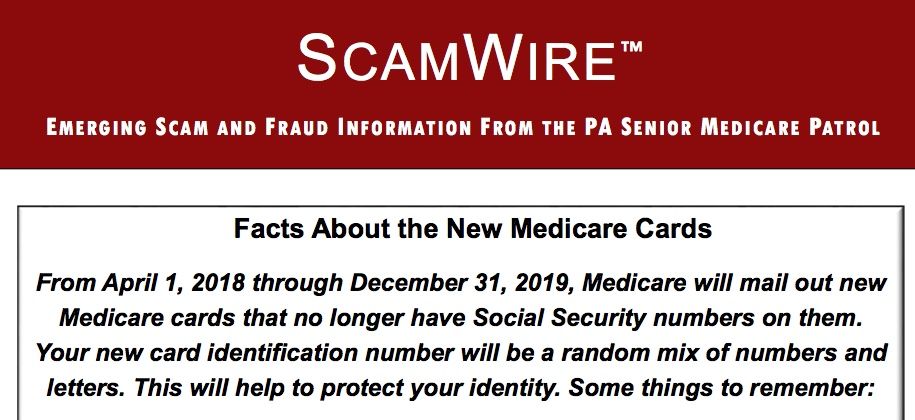 CARIE and Senior Medicare Patrol advise on new Medicare cards